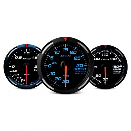 Defi Racer Series 52mm turbo 45psi gauge - blue