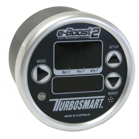 Turbosmart eB2 60mm e-Boost Gauge - Black Silver