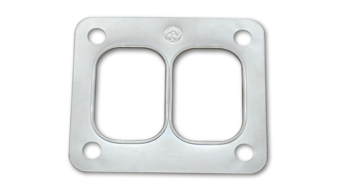 """Vibrant T06 Turbo Inlet Flange (Divided Inlet) - 1/2"""" thick"""