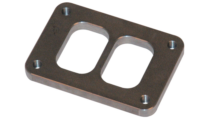 """Vibrant T04 Turbo Inlet Flange (Divided Inlet) - 1/2"""" thick"""