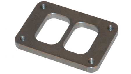 "Vibrant T06 Turbo Inlet Flange (Divided Inlet) - 1/2"" thick"