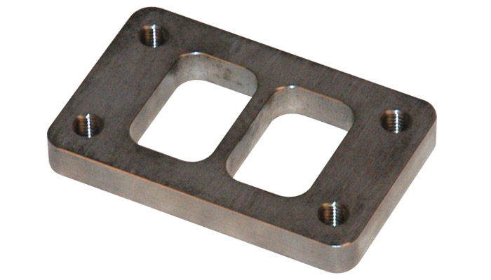 """Vibrant T03 Turbo Inlet Flange (Divided inlet) - 1/2"""" thick"""