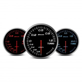 Defi Advance BF Series (Metric) 60mm turbo set 200kpa gauge - red