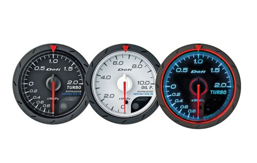 Defi Advance CR Series 60mm turbo 200kpa gauge - black