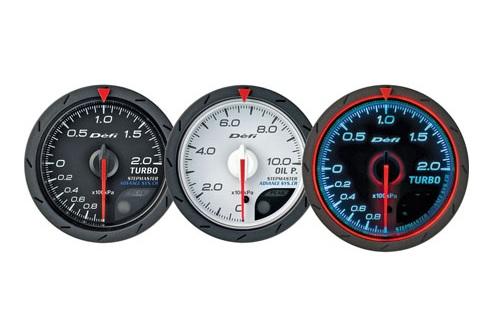 Defi Advance CR Series 60mm turbo 120kpa gauge - white