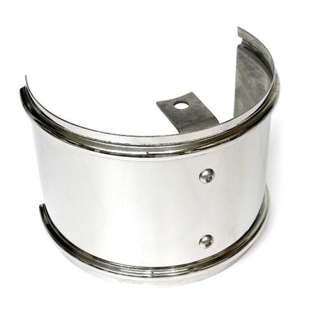 Garrett Turbo Heat Shield - Polished Stainless