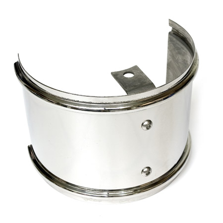 Garrett Turbo Heat Shield - Polished Stainless