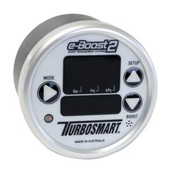 Turbosmart eB2 60mm e-Boost Gauge - White Silver